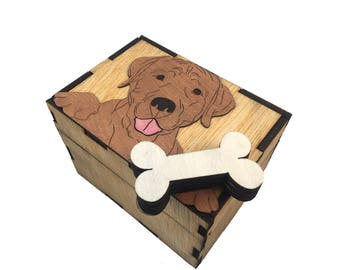 Magic Open Puzzle Box - Dog With Bone