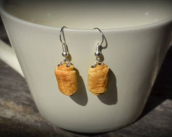 Fancy fashion style - pastries - chocolate - polymer clay earrings