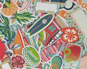 Die cut - embellishments - various shapes - 47 pcs Toga brand - new