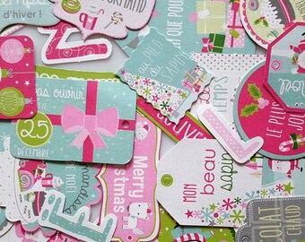 Embellishments - Die cuts - multicolored - Christmas flags 34 pcs - Toga - new
