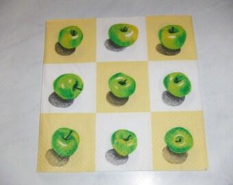"Pretty NAPKIN pattern ""Apples"""