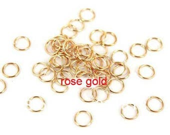 set of 20 6mm gold metal rings