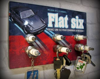 key hook wall porsche 911 flat six to decorate your garage!