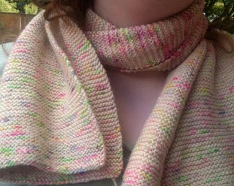 Short multi colored scarf