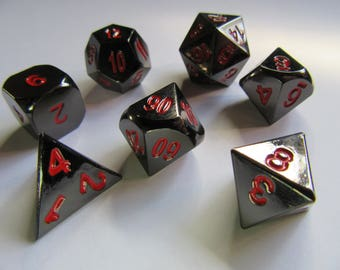 Black Metal Dice for Pathfinder, Dungeons and Dragons (D&D), and other d20 rpg