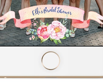 Floral Bridal Shower Snapchat Geofilter