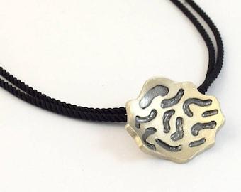 Modern silver 925 oxidized pendant