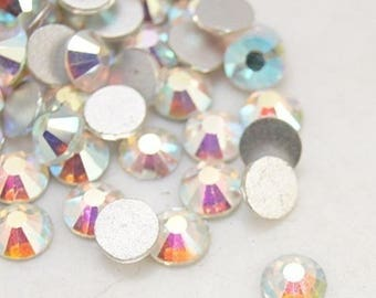 Set of 1440 swarovski strass crystal AB 3 mm superb quality, rhinestone paste non hotfix SS12