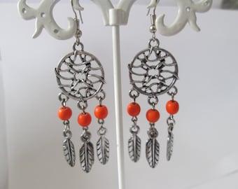 Earrings grabs dreams yellow beads