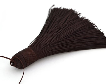 Dark brown 7-8 cm polyester tassel