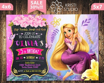 Tangled Invitation - Rapunzel Invitation - Tangled Invite - Rapunzel Invite - Tangled Birthday Invitation - Rapunzel Birthday Invitation