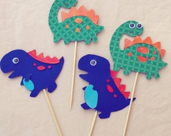 4 Dino Cake Toppers
