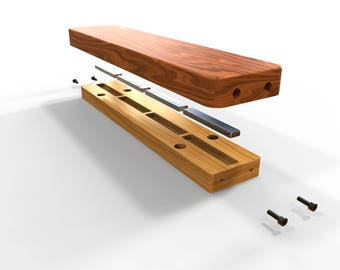 Wooden Magnetic Knife and Tool Holder