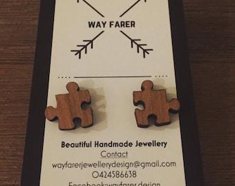 Wooden Jigsaw Studs