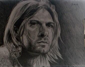 Framed drawing of Kurt