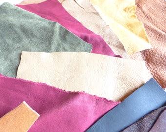 leather scraps multicolored set no. 1
