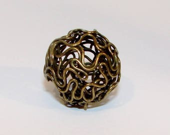 Pearl NET color antique Bronze ball 18.00 mm.