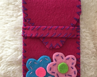 Handmade felt phone case