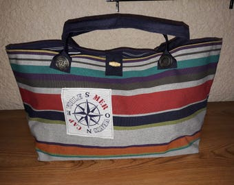 """Tote bag """"Navy"""" for the weekend or holidays."""