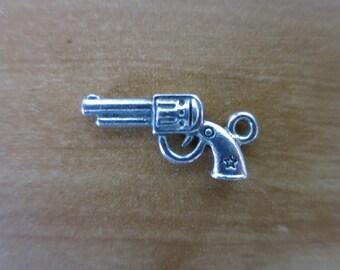 Silver gun charm