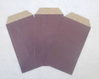 10 purple 7x12cm kraft paper bag