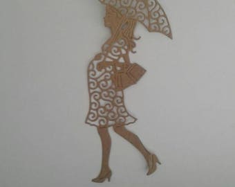 6 brown Kraft card die cut pregnant lady - card making, papercraft, scrapbooking -  birth, pregnancy, new baby, baby shower