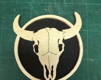 Buffalo Skull Wall Plaque