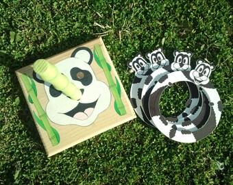 "Full range set ""Panda rings"" wood."