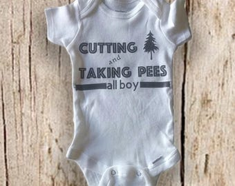 Boys white onesie-All Boy