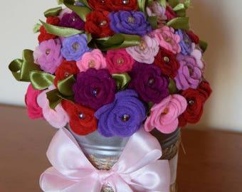 Felt Roses Bouquet