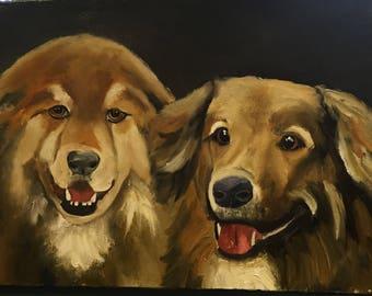 Custom oil paintings of multiples