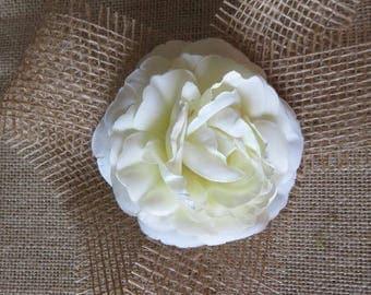 beautiful ivory flower, Camellia fabric