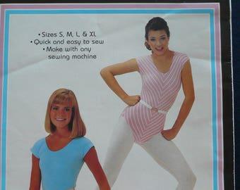 Women's Leotard, Bodysuit Pattern - Vintage Patch Press Pattern - sizes Small through to X-Large