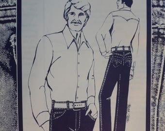 Men's Jeans, Designer Jeans Pattern - Vintage Pattern 261 by Sharon Marie Studios - Sizes 36, 38, 40