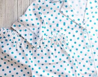 Cotton pajama in peas