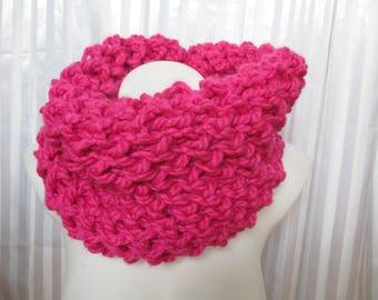 Choker pink woolen woman, mothers day gift