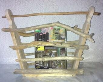Beautiful drift wood magazine rack