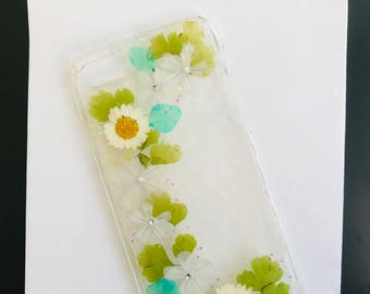 Real Pressed Flowers iPhone Case