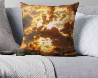 Clouds Revealing the Powerful Sun Pillow Cover