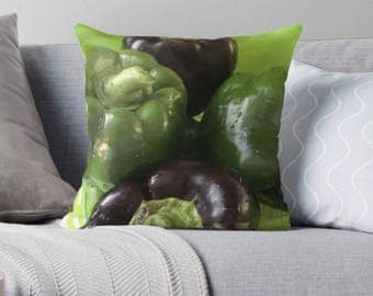 Green and Purple pillow cover
