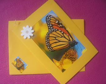 Jewelry card and matching envelope * Butterfly