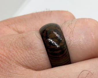 African Wenge Wooden Ring / Male Rings / Female Rings