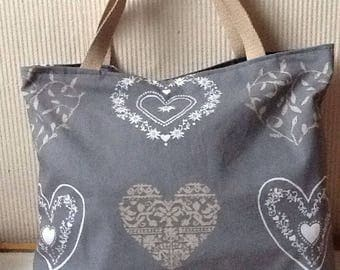 The ceours grey cotton tote bag