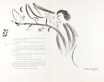 MARC CHAGALL - large limited edition vintage lithograph - c1964 (Mourlot/Maeght/DLM, Paris)
