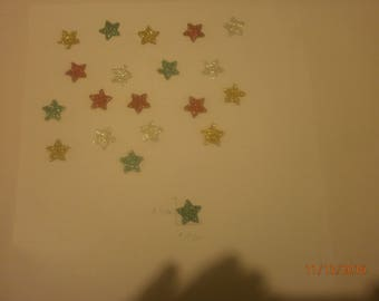 Star shaped stickers