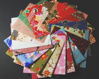Japanese washi paper with various motifs 5.8 cm