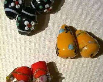 Set of 7 Lampwork beads