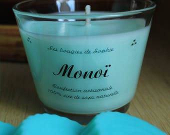 Monoi vegetable wax scented candle
