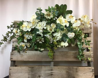 Rose Arbor swag - Wedding Flowers - Wedding Arbor Decorations - Wedding decorations – chuppah flowers – wedding Arch flowers –wedding arch