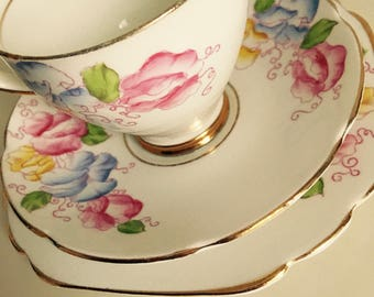Hand painted, Stanley China, Trio, Vintage Fine Bone China, Collectable, Gift